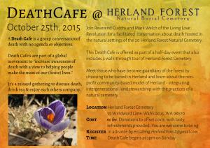 Death Cafe at Herland Forest October 25th, 2015
